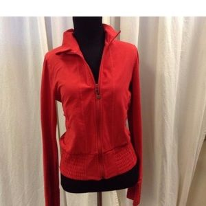 Lululemon 6 Red bomber track with front zipper EUC